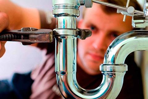Man plumbing